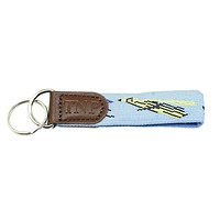 Fly Fishing Key Fob in Blue by 39th Parallel