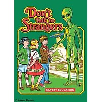 Don't Talk To Strangers Magnet | '80s Children's Book Style Satirical Art