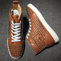 DCCK2 Cl Christian Louboutin Louis Spikes Style #1827 Sneakers Fashion Shoes