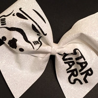 3in. Glitter Stormtrooper Star Wars Cheer Bow