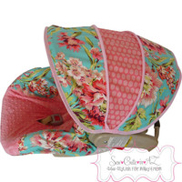 Love Bliss Bouquet Infant Car Seat Cover- Moves To Toddler