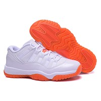 "Air Jordan 11 Retro Low ""White/Orange"" Sneaker shoes"