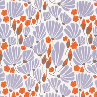 Breezy Floral Blue - Organic Cotton Voile - Morning Song Collection (5208.52.00.90)