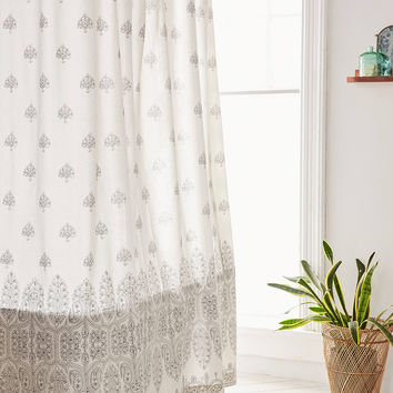 Plum & Bow Bessum Stamped Shower Curtain   Urban Outfitters
