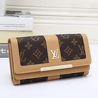Louis Vuitton LV Women Leather Wallet Purse