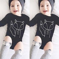Cotton Newborn Infant Baby Boy Girls Long Sleeve Romper Jumpsuit Clothes Outfits