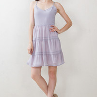 Lavender Tiered Cami Dress