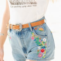 Love Child Denim Shorts - Blue