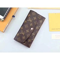 LV Louis Vuitton MONOGRAM CANVAS EMILIE WALLET