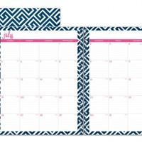 """Dabney Lee for Blue Sky """"Greek Key"""" Large Tabbed Monthly Wire-O Planner"""