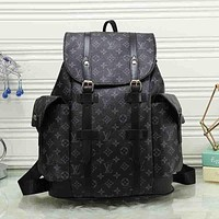 Best Gifts Louis Vuitton Women Leather Bookbag Shoulder Bag Handbag Backpack