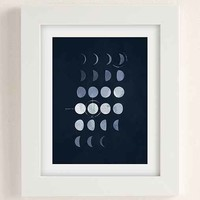 Paul Tebbott Must Be Moon Art Print