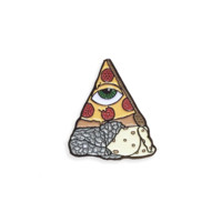 Burizza (Pizza Burrito) Lapel Pin