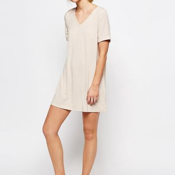 One Day Petite Oversize T-Shirt Dress