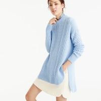 Tunic cable knit sweater
