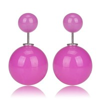 Gum Tee Mise en Style Tribal Earrings - Jelly Bean Purple