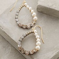 Pearled Ombre Hoops by Anthropologie Pearl One Size Jewelry
