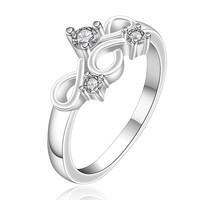 silver plated stamp insets crown rings the lord of rings silver plated ring