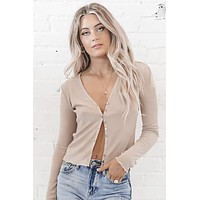 Shape Up Button Up Long Sleeve Top