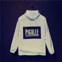 pigalle reflective jacket windbreaker