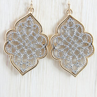 Gold and Silver Royalty Dangle Earrings - Earrings