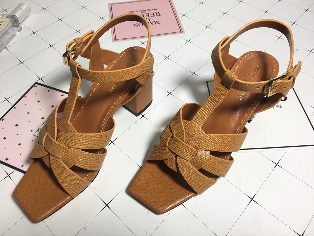 Image of ysl women casual shoes boots fashionable casual leather women heels sandal shoes 169