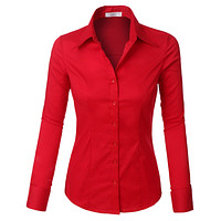 Plus Size Slim Fit Long Sleeve Shirt (CLEARANCE)