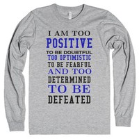 Too Determined to be Defeated tank top tee t shirt-T-Shirt