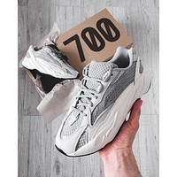 Adidas Yeezy 700 Runner Boost Fashion Casual Running Sport Shoes White