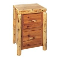 Cedar File Cabinet With Two Drawers