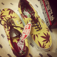 Marijuana Weed Leaf Vans(Different Color styles possible)