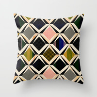 discovering diamonds Throw Pillow by SpinL
