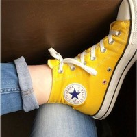 One-nice? Converse Women Men High-Top Fashion Canvas Flats Sneakers Sport Shoes