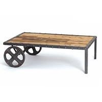 Industrial Cart Coffee Table by Go Home Ltd.