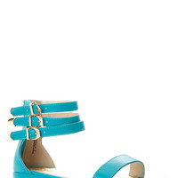 Bamboo Three Layered Ankle Strap Sandal
