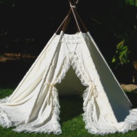 VICTORIA - teepee play tent photo prop - wedding decoration
