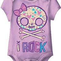 I Rock Girl Skull Lavender One Piece