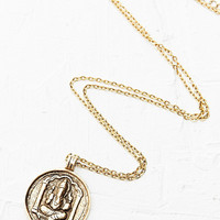 Round Ganesh Pendant in Gold - Urban Outfitters