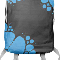 Blue Bubbles Backpack created by Christy Leigh   Print All Over Me