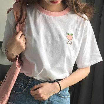 Embroidered Fruity T-Shirt