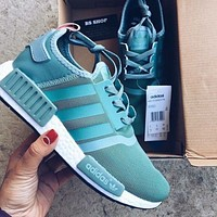 Adidas NMD r1 breathable woven sports casual running shoes sneakers-1