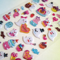 Funny Ghosts cartoon food party ghost sticker cute cartoon ghost kids haunting party friendly ghost funny white cloud small candy scrapbook