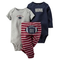 Carter's ''First Draft Pick'' Bodysuit & Football Striped Pants Set - Baby Boy, Size: