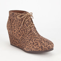 City Classified Rex Womens Wedges Leopard  In Sizes