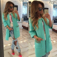 Hot Sale Autumn Winter Long Sleeve Jacket [6446619396]