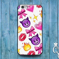 Cute Phone Case Emoji Devil Lips Funny Cover iPod Touch iPhone 4 4s 5 5s 5c 6 +