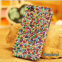 Bling Colorful Crystals iPhone Cases, iPhone 4 case, iPhone 4s case, iPhone 5 Case, Multicolored Rhinestone iPhone 4 Cases, Samsung Case