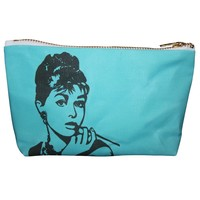 Audrey Hepburn Pop Zipper Pouch and Makeup Bag – Illustrated and Handmade in the USA