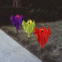Ghost Fabric Halloween Lawn Stakes, Set Of 3 Halloween Decoration - Walmart.com