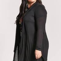 Plus Size Draped Cardigan